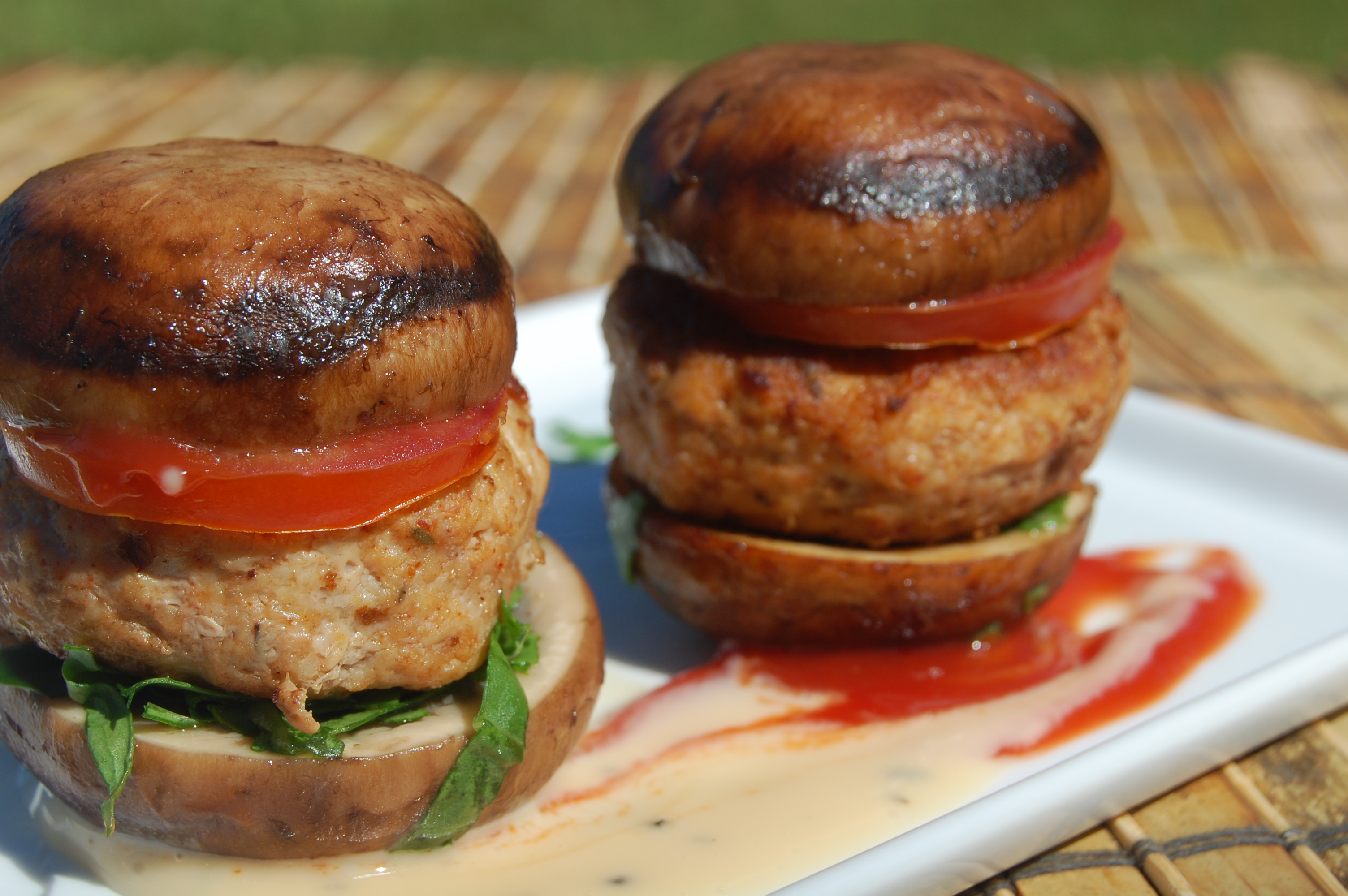 Fm Recipe July 4th Cheesy Bison Burger On Portobello Mushroom Buns My Beverly Hillsmy Beverly Hills